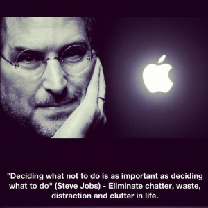 what not to do Steve Jobs